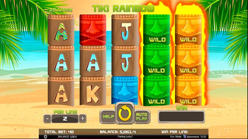 Изображение игрового автомата Tiki Rainbow 1