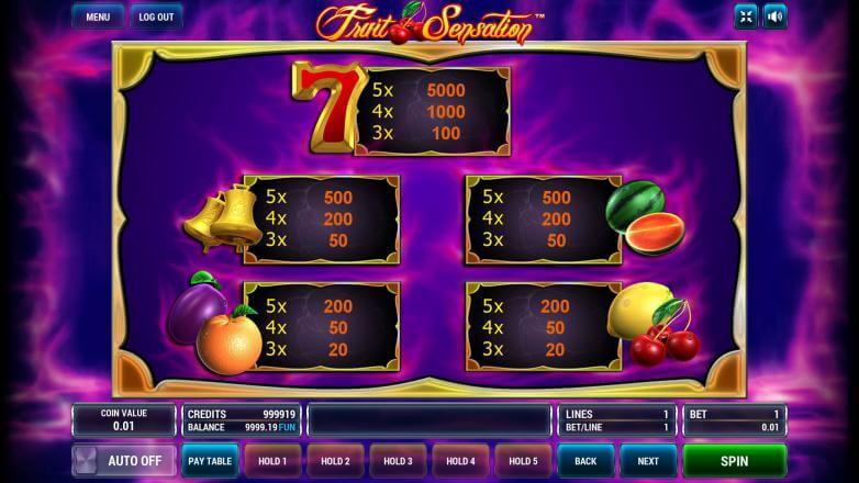 Изображение игрового автомата Fruit Sensation 3