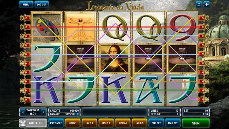 Изображение игрового автомата Leonardo Da Vinchi 1