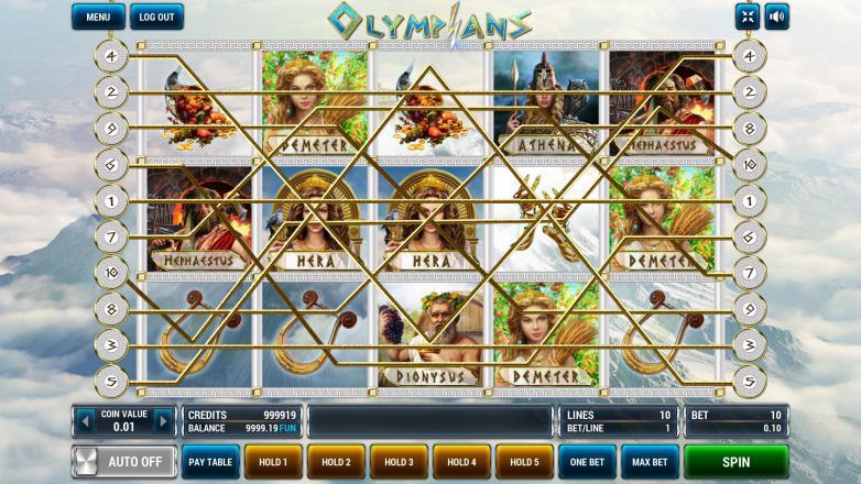 Изображение игрового автомата Olympians 1