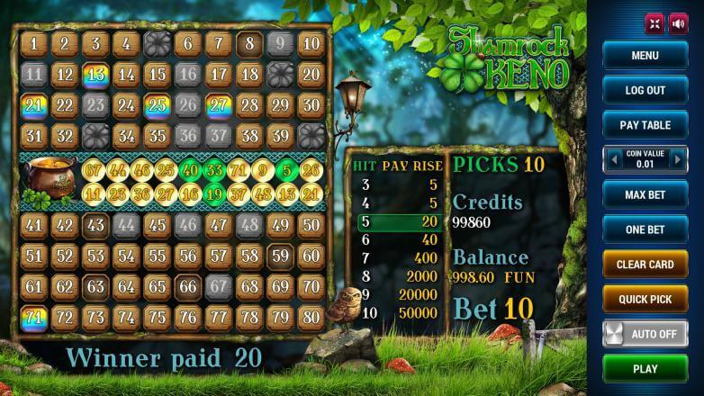 Изображение игрового автомата Keno Shamrock 3